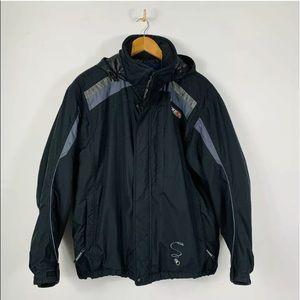Stryke by Spyder Gray Black Reflective Ski Jacket